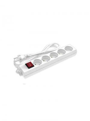 Удлинитель сетевой ФОТОН 10-35S [1х5], 3м, 10А, без заземл, с выкл.,  Белый. Цвет: белый
