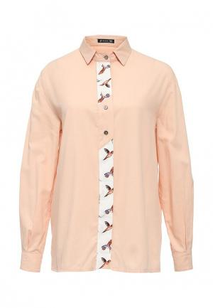 Рубашка Gloss. Цвет: коралловый
