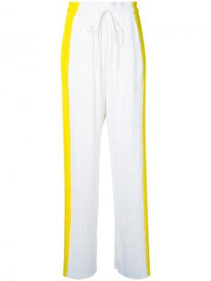 Плиссированные брюки Haider Ackermann. Цвет: белый