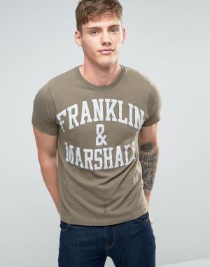 Franklin & Marshall Футболка с логотипом and. Цвет: зеленый