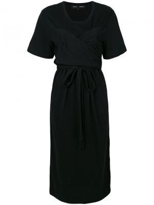 Драпированное платье с поясом на талии Proenza Schouler. Цвет: чёрный