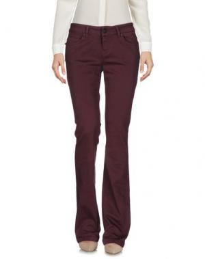 Повседневные брюки UP ★ JEANS. Цвет: баклажанный