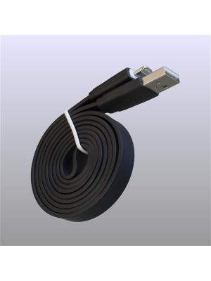 Usb кабель Pro Legend плоский Iphone 5, 6s, 8 pin, 1м,  чёрный. Цвет: черный