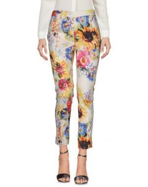 Повседневные брюки NORA BARTH. Цвет: желтый