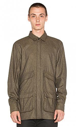 Рубашка polarized Rochambeau. Цвет: серо-коричневый