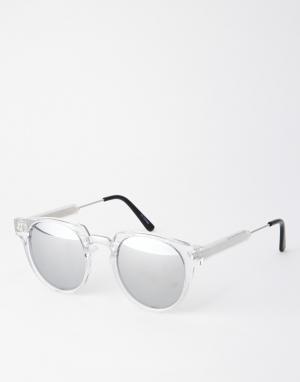 Spitfire Солнцезащитные очки с зеркальными стеклами Teddy Boy2. Цвет: прозрачный