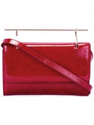 Лакированная сумка M2malletier. Цвет: красный