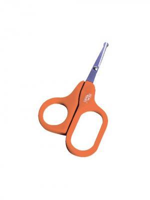 Ножницы детские безопасные  1 шт. (Нержавеющая сталь, ПП) 0+ ПОМА. Цвет: оранжевый