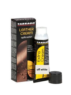 Крем тюбик с губкой Leather cream, БОЛЬШОЙ, 75мл. (off white) Tarrago. Цвет: молочный