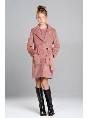 Классическое пальто MORU. Цвет: розовый