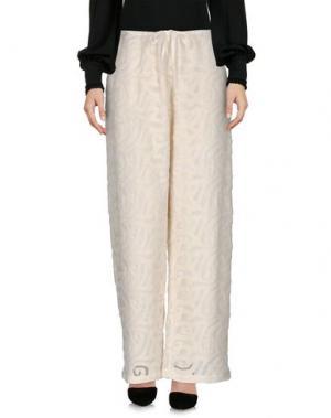Повседневные брюки MULLER of YOSHIO KUBO. Цвет: слоновая кость
