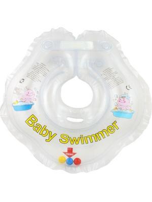 Круг прозрачный (полуцвет+внутри погремушка) Baby Swimmer. Цвет: прозрачный