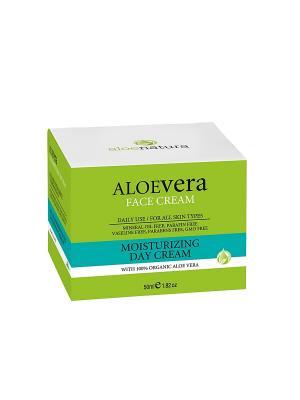 Алоэнейчер дневной крем для лица увлажняющий, 50мл Madis S.A.. Цвет: светло-зеленый