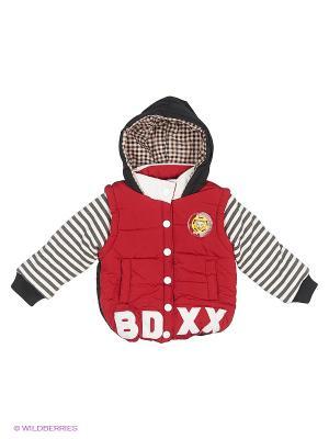 Куртка Happy Bear. Цвет: красный, белый, черный