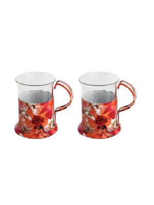 Набор посуды для чаепития Regent inox. Цвет: розовый