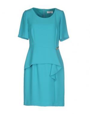 Короткое платье MUSANI COUTURE. Цвет: бирюзовый