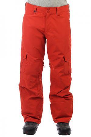 Штаны сноубордические  Porter Ketchup Red Quiksilver. Цвет: красный