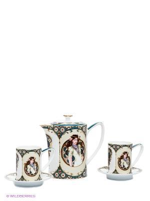 Чайный набор Габриэлла Pavone. Цвет: молочный, белый, синий
