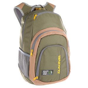 Рюкзак школьный  Campus Loden Dakine. Цвет: зеленый,серый,бежевый