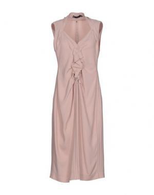 Платье до колена 6267. Цвет: розовый