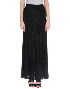 Длинная юбка GENTRYPORTOFINO. Цвет: черный