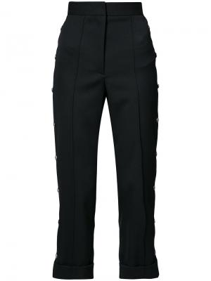 High-rise cropped tailored trousers Vera Wang. Цвет: чёрный