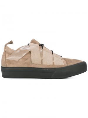 Кроссовки с контрастной шнуровкой Damir Doma. Цвет: телесный