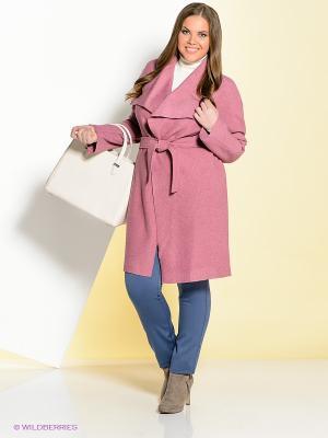 Пальто Ваша Шляпка. Цвет: розовый