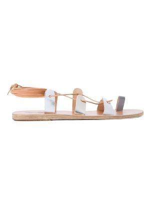 Сандалии Alcyone Ancient Greek Sandals. Цвет: металлический