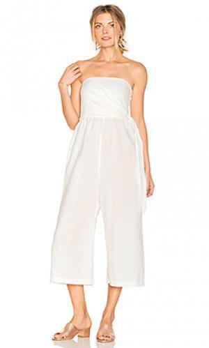 Пляжный костюм с широкими брюками her LACAUSA. Цвет: белый