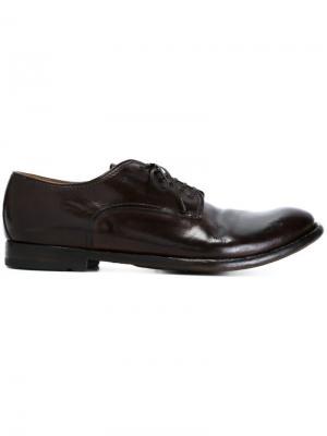 Туфли на шнуровке Anatomia Officine Creative. Цвет: коричневый