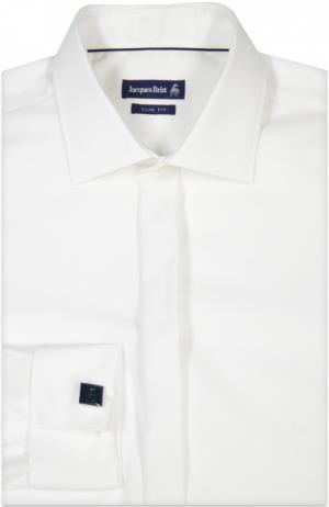 Вечерняя сорочка с запонками Jacques Britt. Цвет: молочный