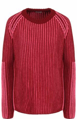 Пуловер из смеси шерсти и кашемира MRZ. Цвет: бордовый