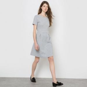 Платье MADEMOISELLE R. Цвет: оранжевый,серый меланж