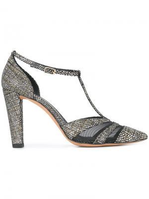 Туфли-лодочки с Т-образной планкой Jean-Michel Cazabat. Цвет: чёрный