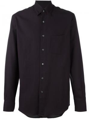 Рубашка с нагрудным карманом Ermenegildo Zegna. Цвет: розовый и фиолетовый