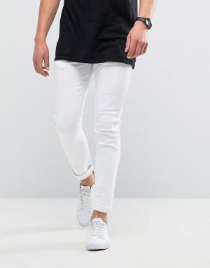 Loyalty & Faith Белые зауженные джинсы and Manor. Цвет: белый