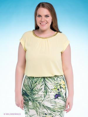 Блузка VILATTE. Цвет: желтый