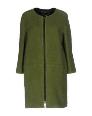 Легкое пальто CARLA MONTANARINI. Цвет: светло-зеленый
