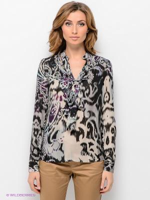 Блузка ЭНСО. Цвет: черный, зеленый, кремовый