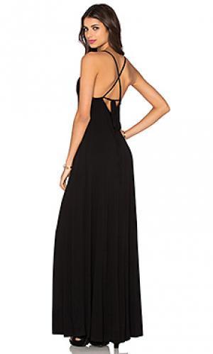 Макси-платье с глубоким вырезом на спине Bella Luxx. Цвет: черный