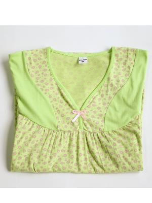 Ночная сорочка Proto. Цвет: зеленый, розовый