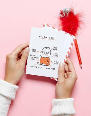 OHH DEER Поздравительная открытка по случаю рождения ребенка. Цвет: мульти