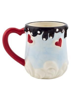 Кружка Biscuit Elff Ceramics. Цвет: голубой
