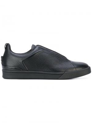 Кроссовки со шнуровкой Ermenegildo Zegna. Цвет: чёрный