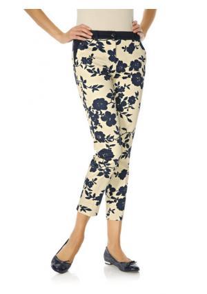 Моделирующие брюки Ashley Brooke. Цвет: темно-синий/бежевый