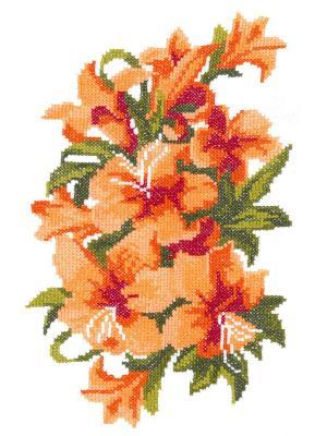 Вышивка на одежде NITEX. Цвет: оранжевый, оливковый