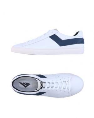 Низкие кеды и кроссовки PONY. Цвет: белый