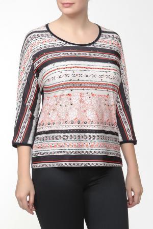 Блузка Elisa Fanti. Цвет: черный, белый