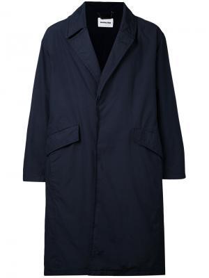 Однобортное пальто monkey time. Цвет: синий